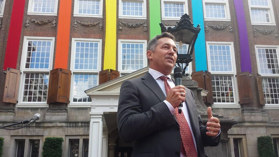 U.S. Envoy on LGBT Issues Randy Berry speaks at Europride 2016 in Amsterdam