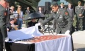 A unique American flag carried during D-Day in 1944 arrived at the Nationaal Militair Museum in Soesterberg.