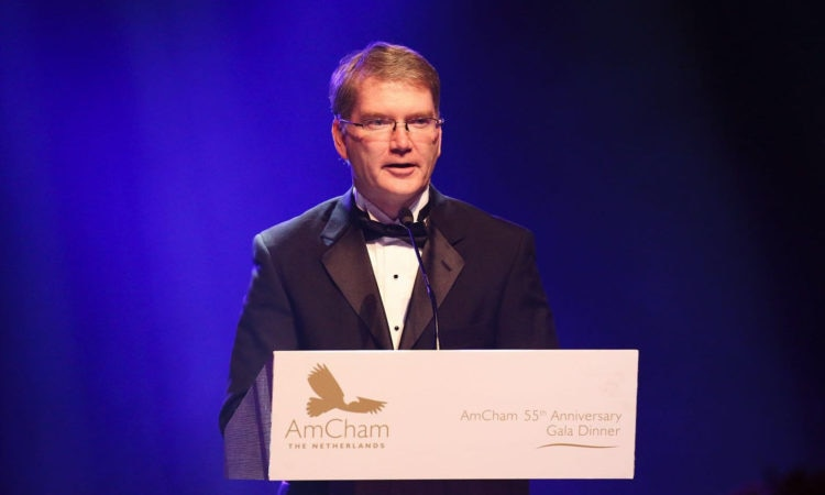 CDA Crowley speaks at the AmCham Gala Dinner