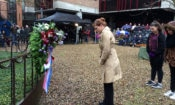 Public Affairs Counselor Sherry Keneson-Hall laid a wreath at the annual commemoration of the Nijmegen bombing, February 22, 2017.