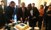 CDA cuts cake