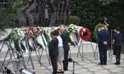 Ambassador Hoekstra laid a wreath on behalf of the United States.