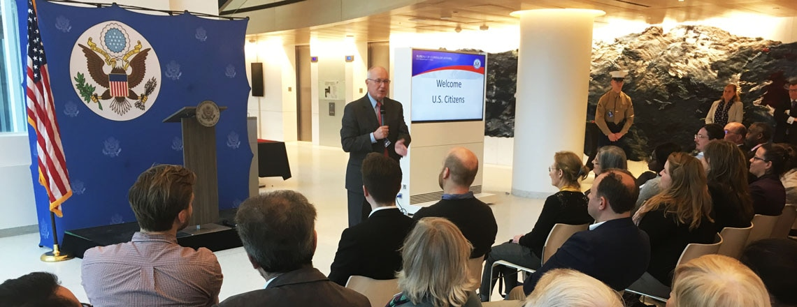 Ambassador Hoekstra invites American Citizens for a Town Hall Meeting