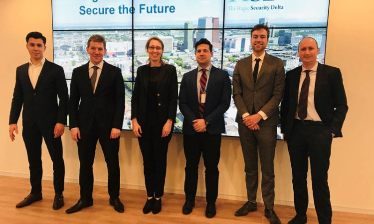 Luke McNamara visits The Hague Security Delta