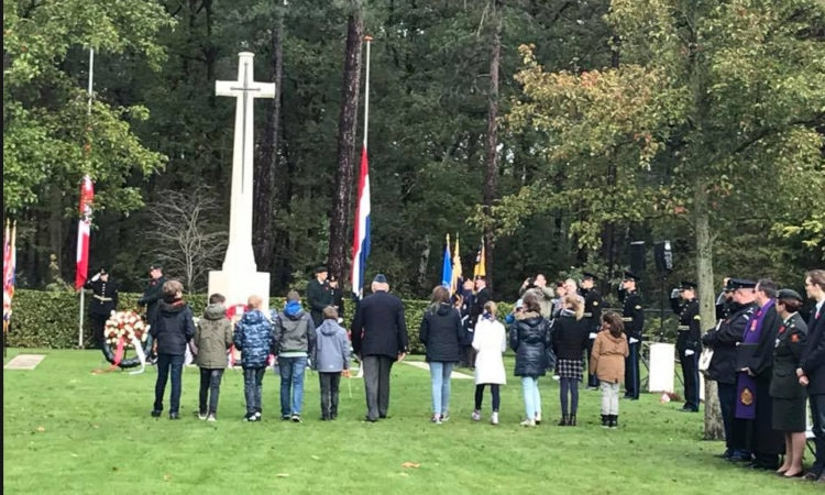 Honoring Canadians who died in in the Netherlands during World War II.