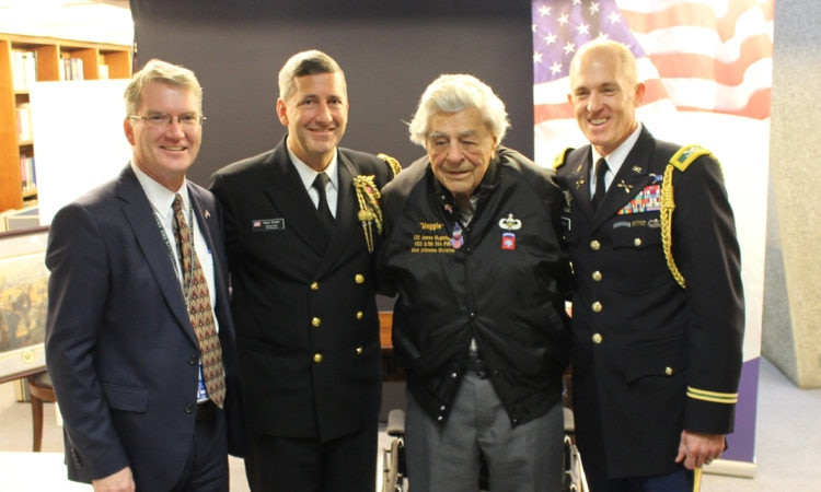 "Lt. Col. James ""Maggie"" Megellas, 100, visits the U.S. Embassy"