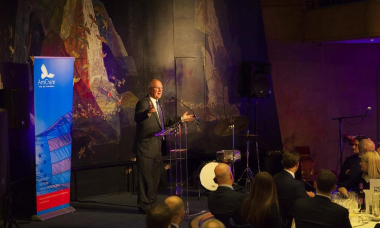 American Chamber of Commerce (AmCham) hosts welcome dinner honoring the arrival of U.S. Ambassador Pete Hoekstra.