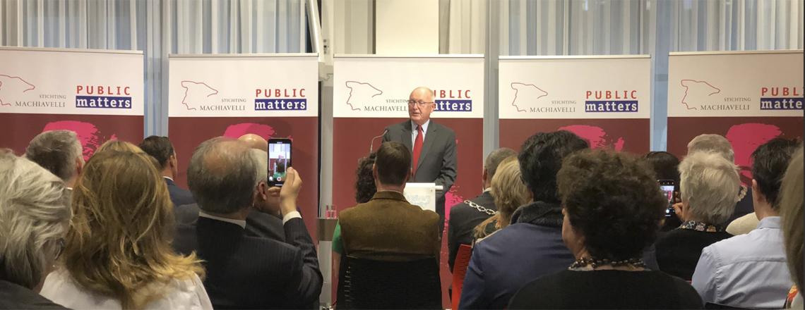 Ambassador Hoekstra delivers prestigious Machiavelli lecture